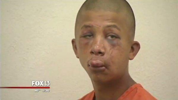 Florida dad bloodies man caught raping his son