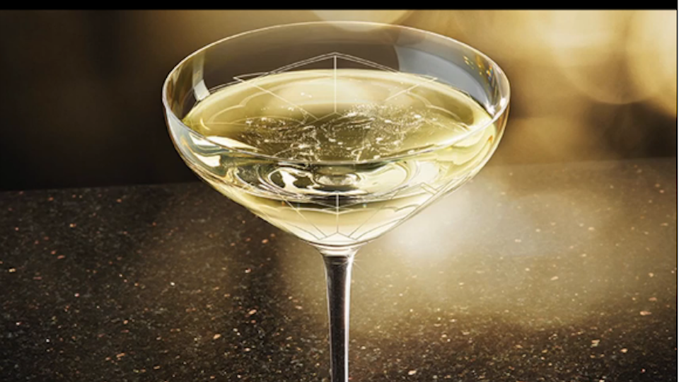 New Champagne glass modeled after Kate Moss's left boob (VIDEO)