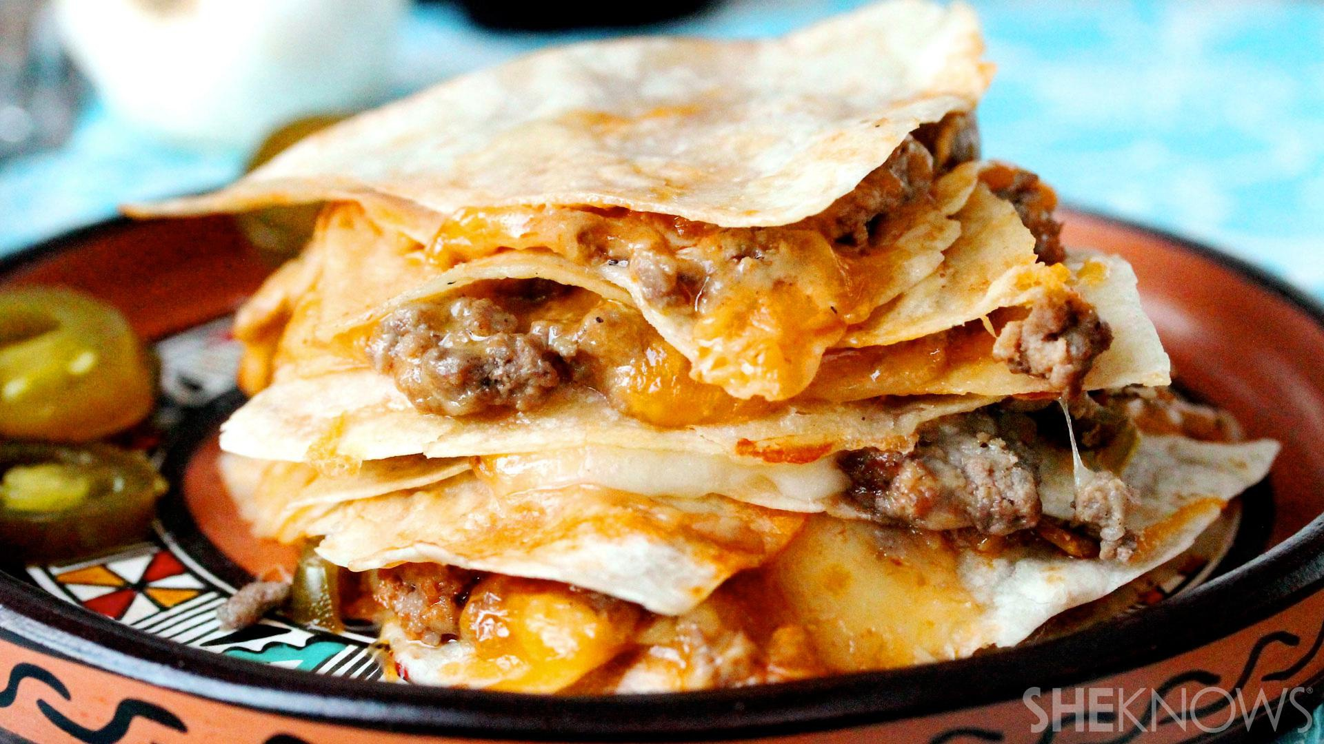 A burger and a quesadilla had a baby, and it will make your mouth water