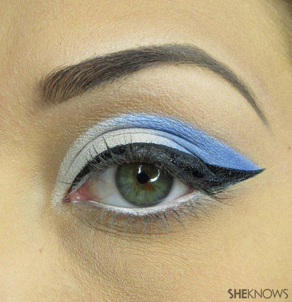 Retro Fourth of July makeup