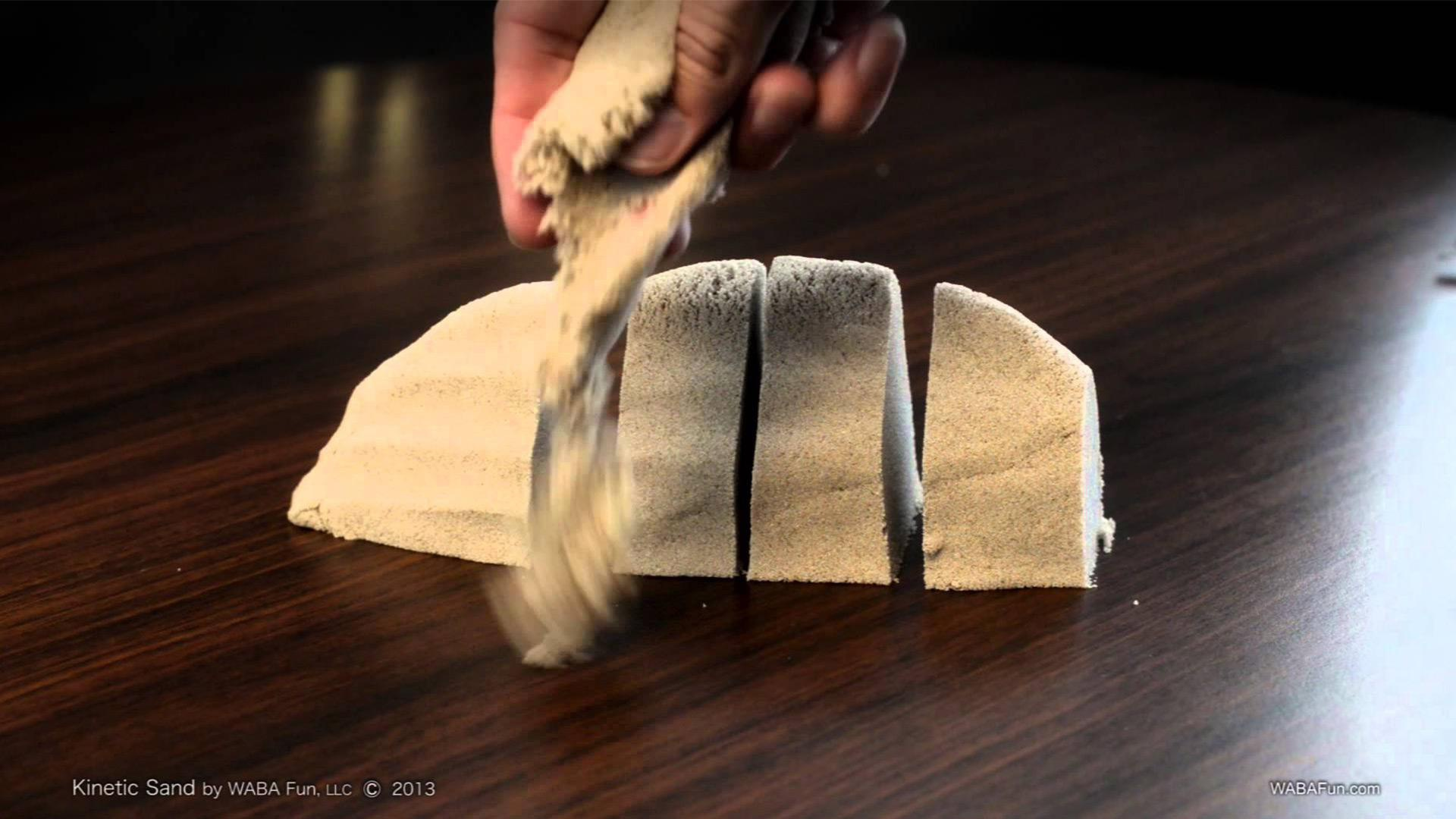 Cool sensory activities with kinetic sand