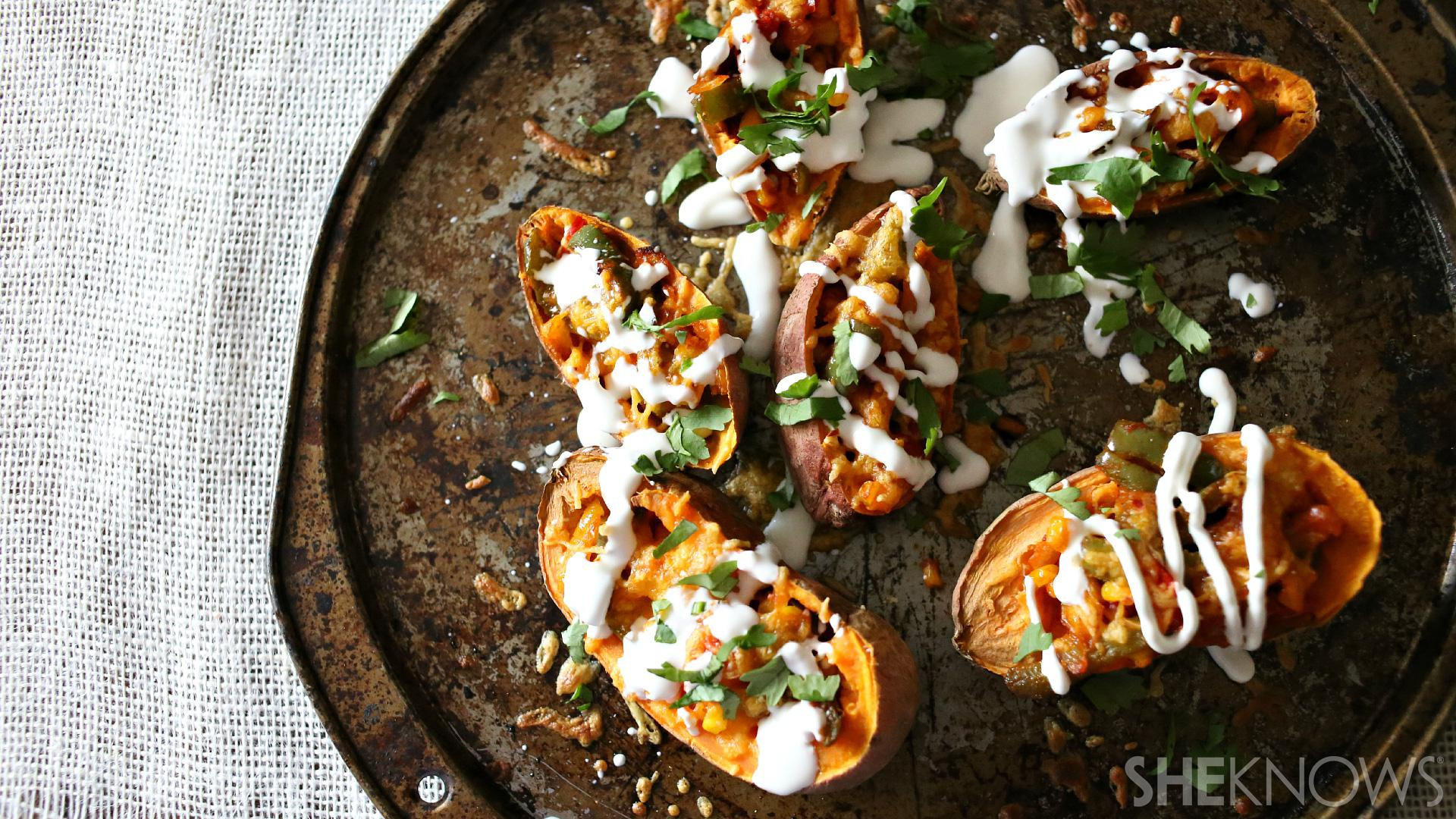 ... an appetizer favorite with these Southwest loaded sweet potato skins