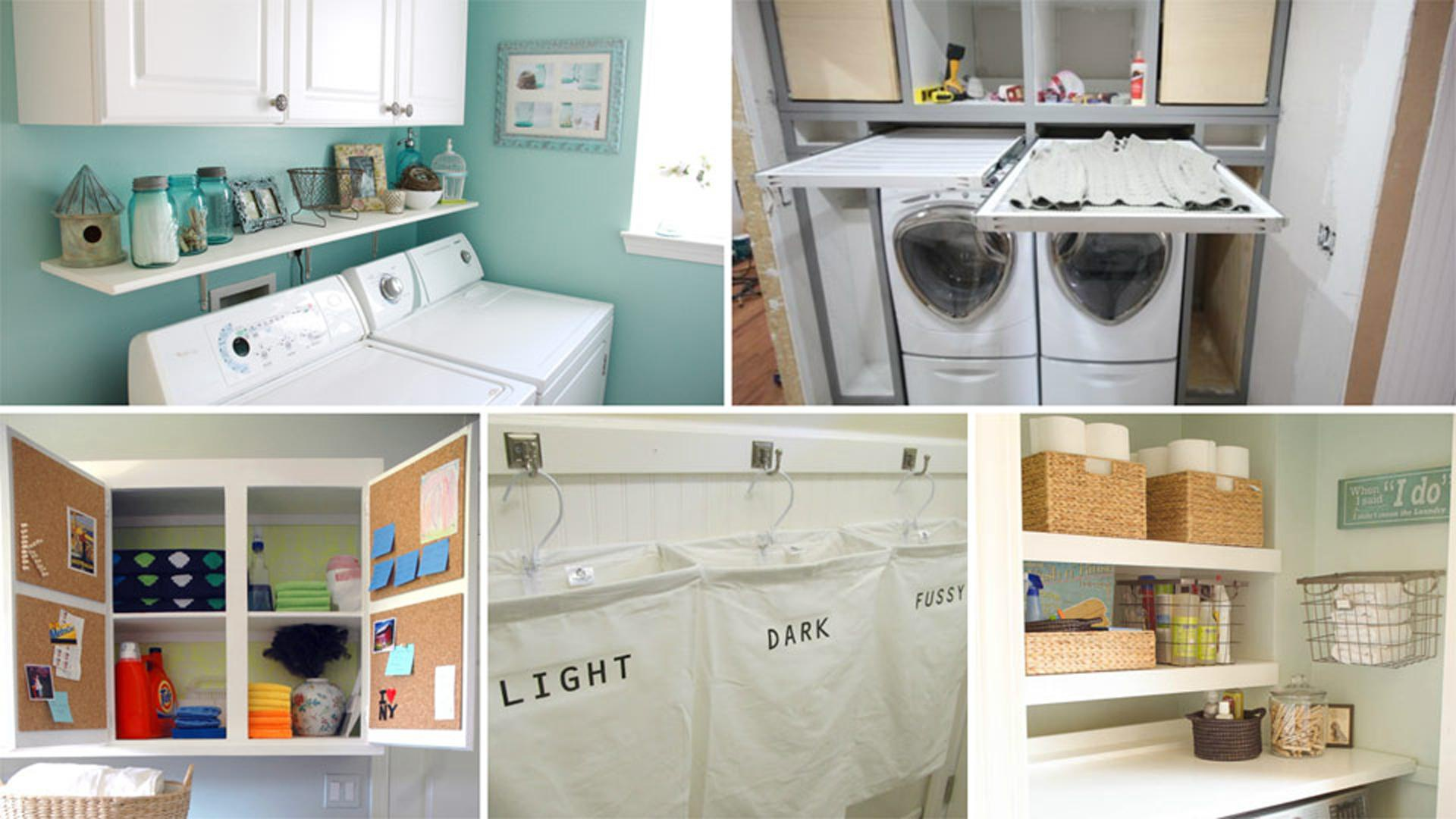 13 life hacks to calm the craze in your laundry room for Room design hacks
