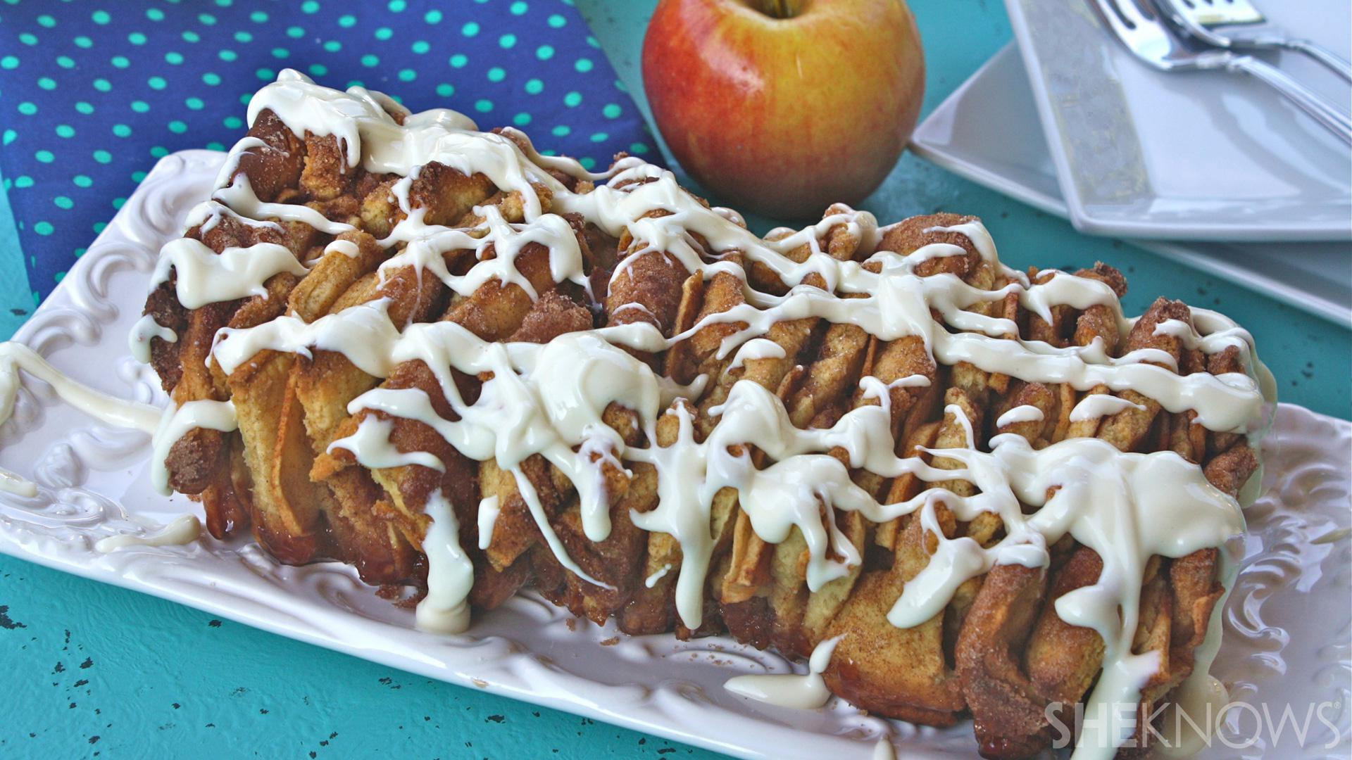 Sticky and sweet gluten-free apple-cinnamon pull-apart bread