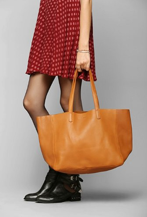 Buy it: BAGGU Oversized Leather Tote (urbanoutfitters.com, $240)