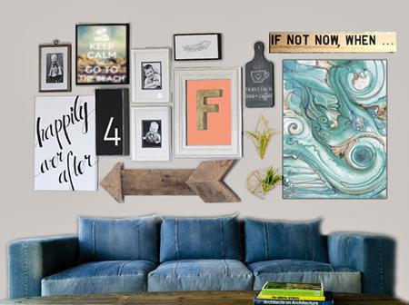 SDB Lifes a Beach Living Room_Denim couch gallery wall copy