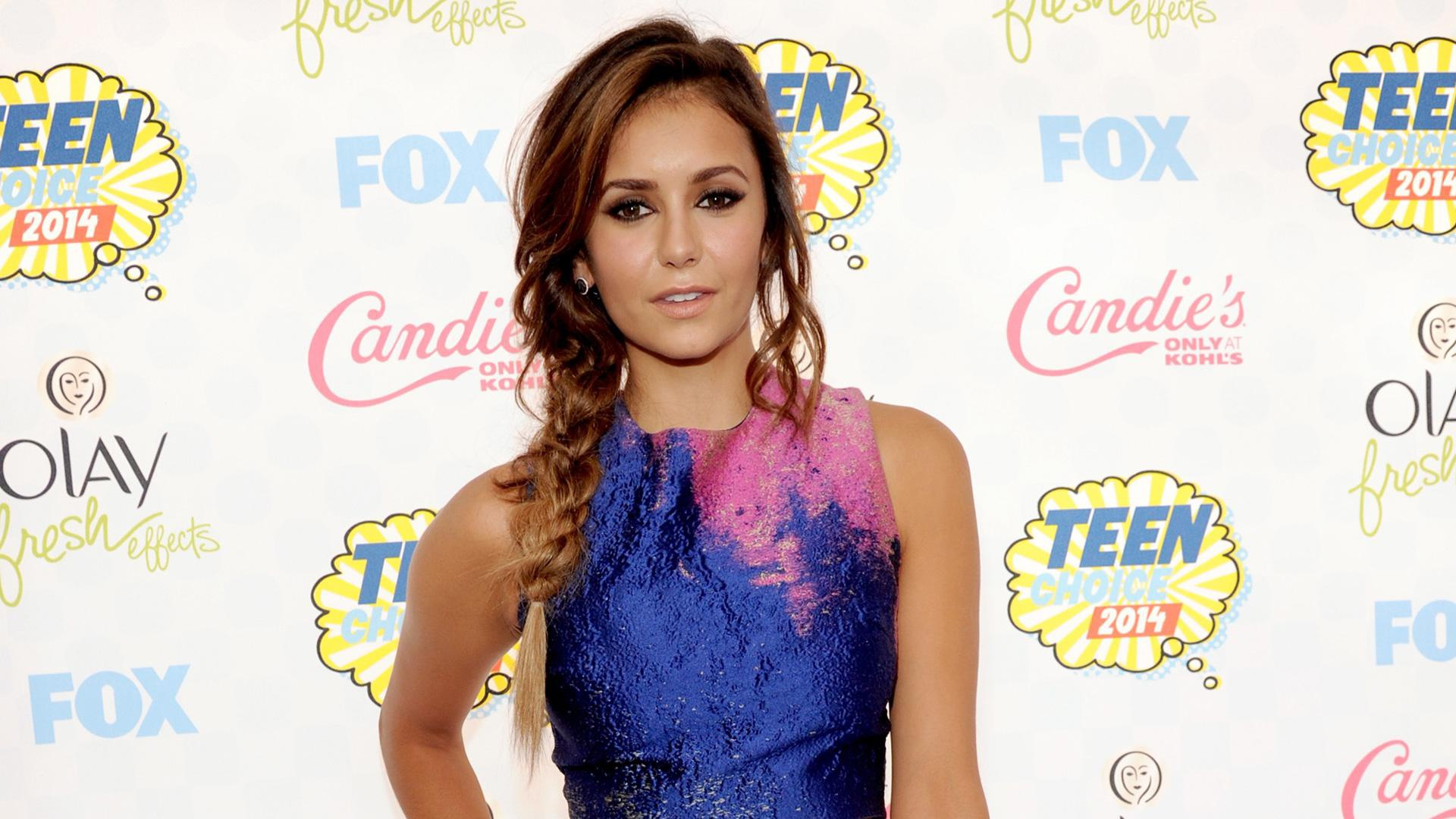 Nina Dobrev's Teen Choice Awards side plait is giving us serious braid envy