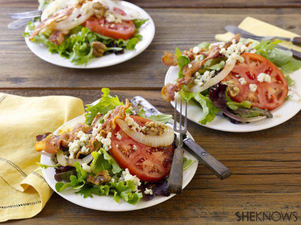 Grilled Vidalia Onion and Bacon Salad