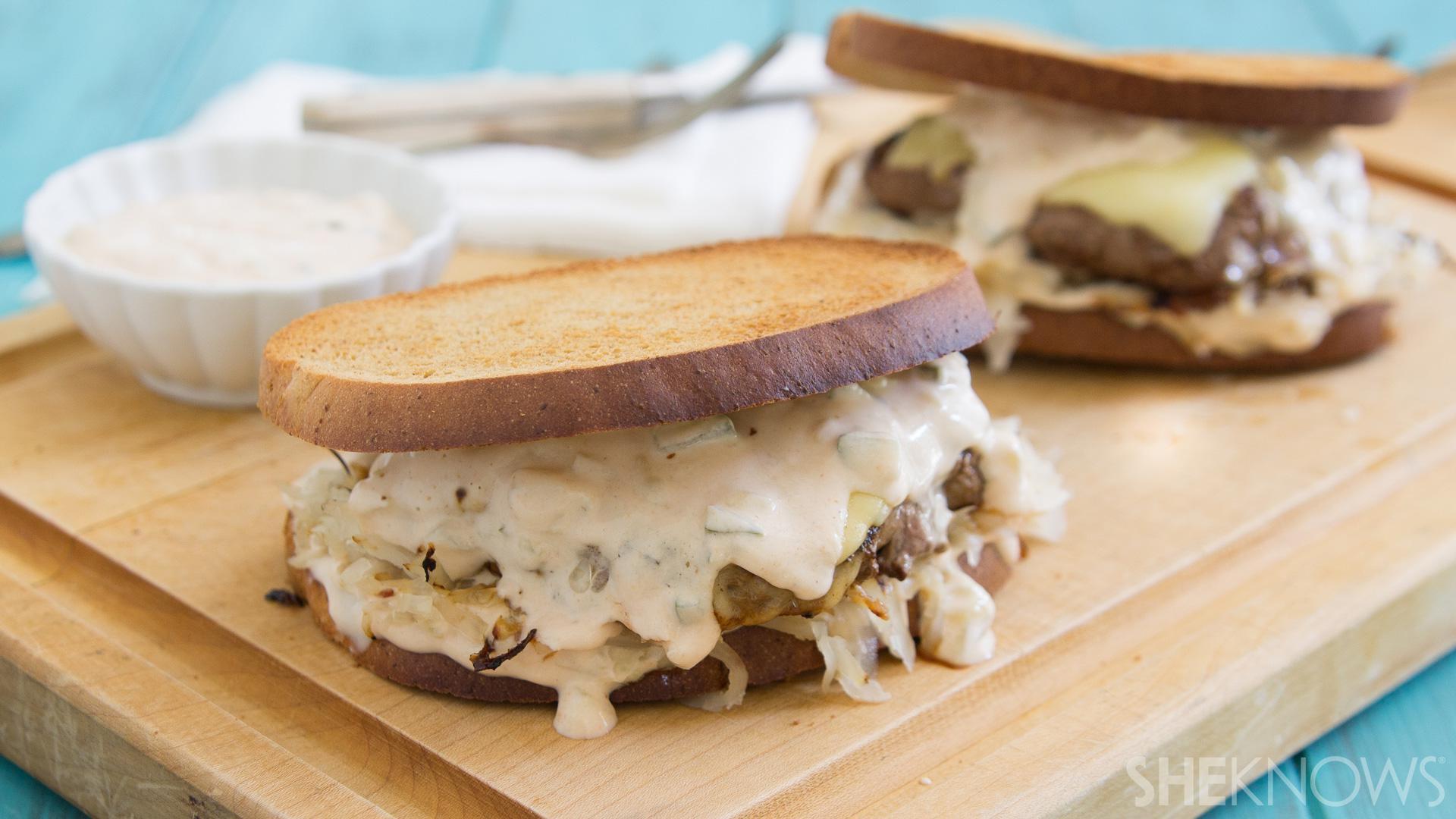 The Reuben burger mashup of your dreams