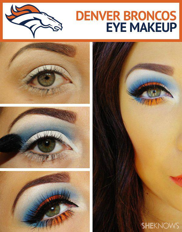 Denver Broncos Superbowl makeup