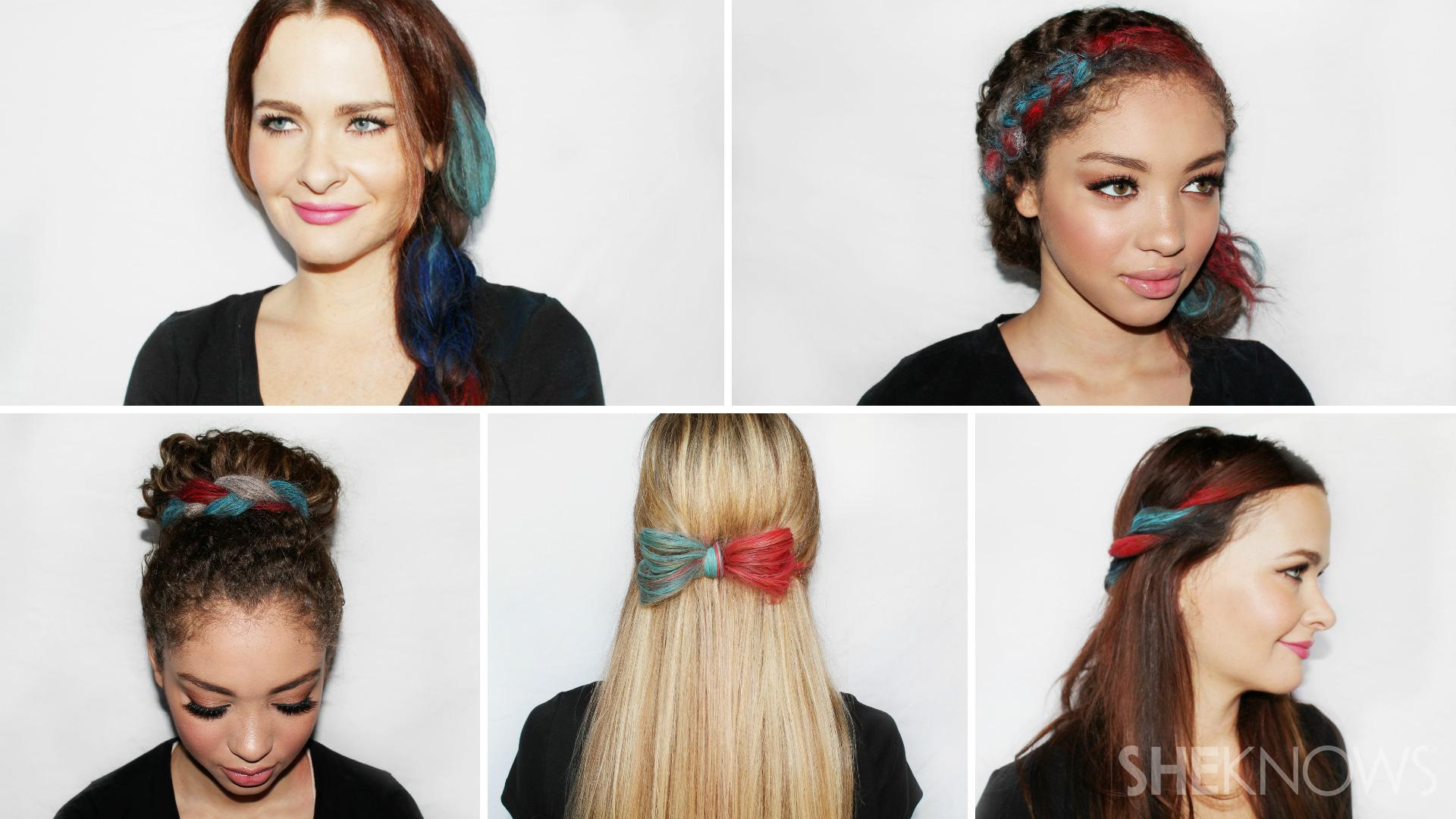 5 Clever patriotic ways to chalk your hair
