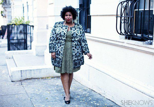 Glitzy holiday outfits for the plus-size woman -- Night out