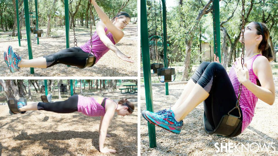 7 Ab exercises you can do on a swing set