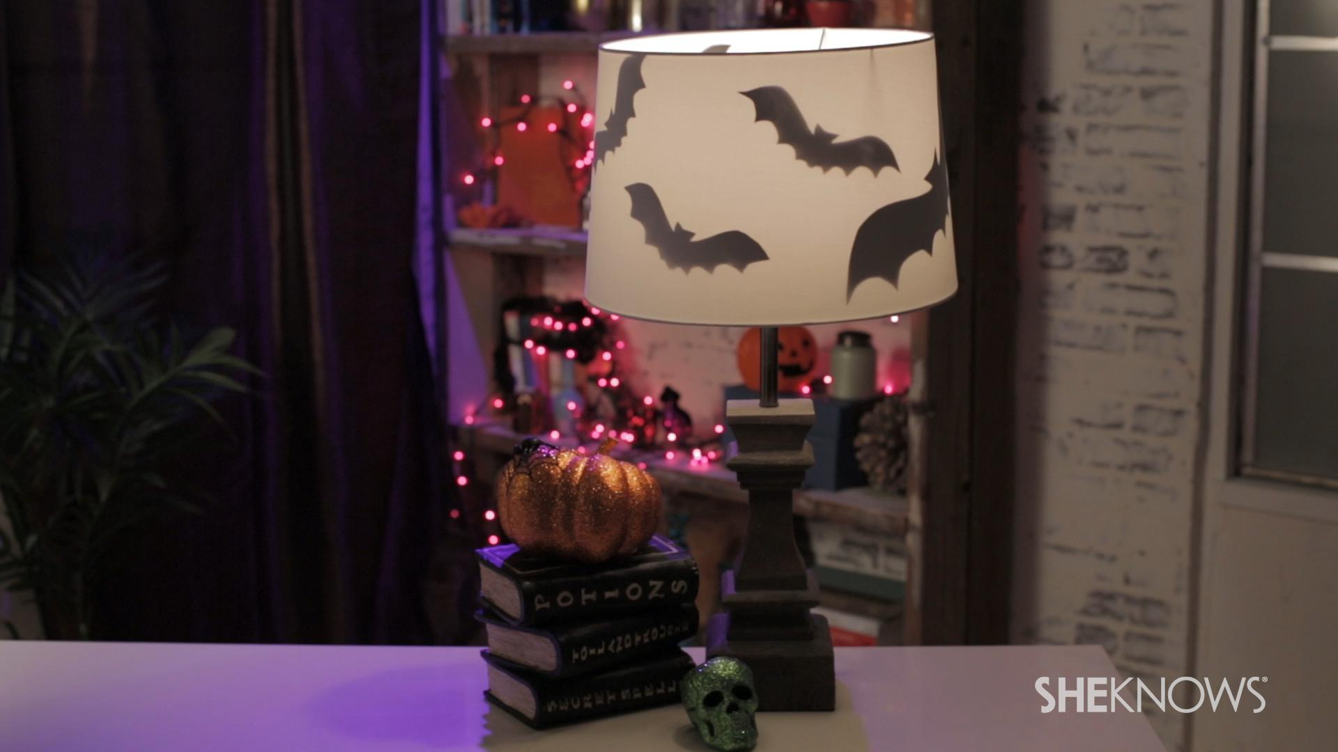 Cast a spell on your lamp with our bat silhouette DIY (VIDEO)