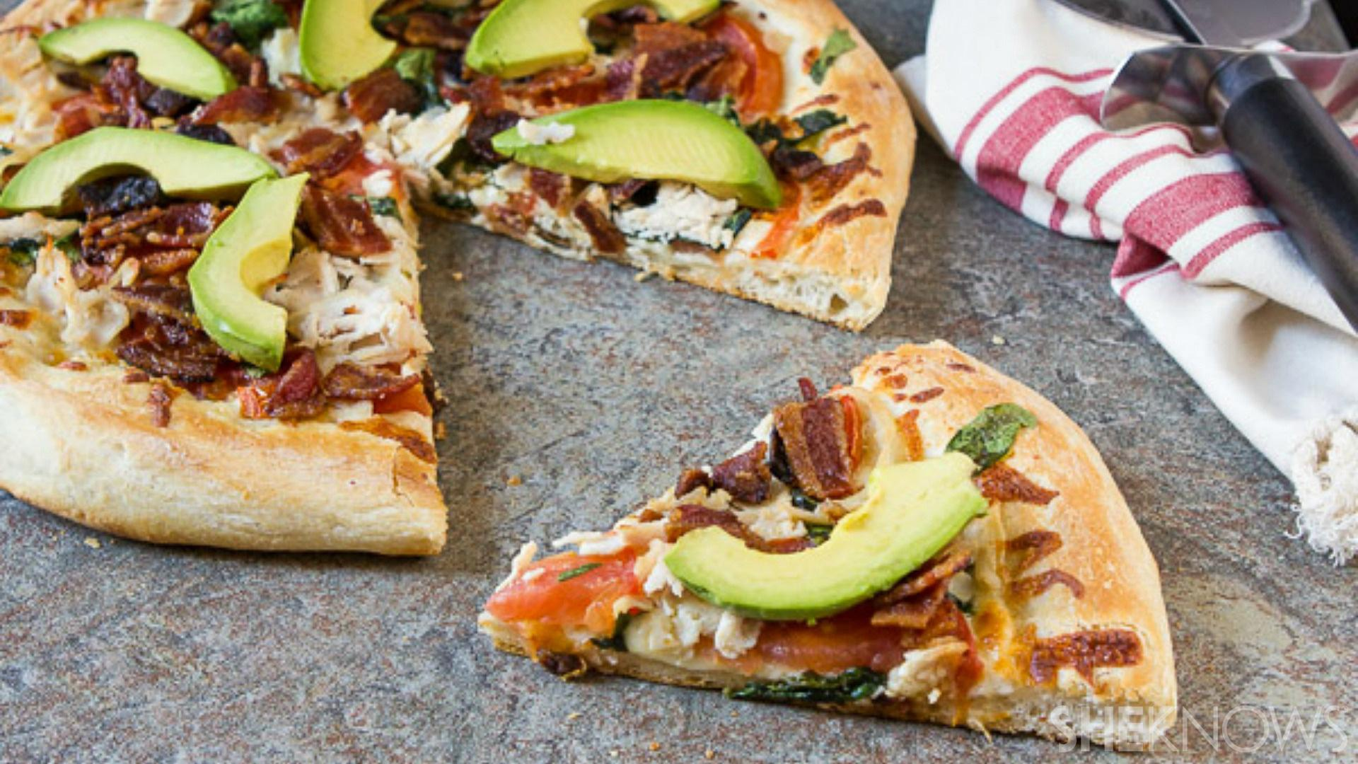 The California club pizza: your favorite sandwich transformed