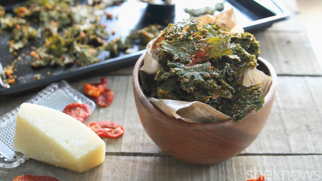 pizza flavored kale chips