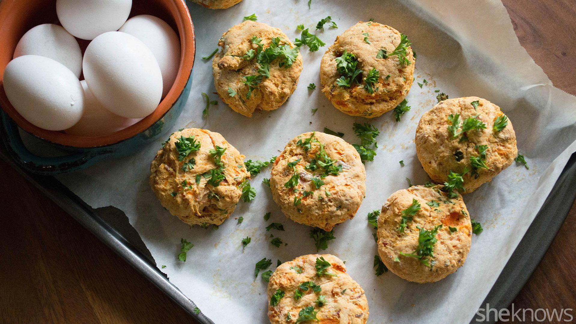 Sweet potato scones put a savory twist on a popular baked good