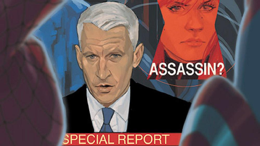 Anderson Cooper gets animated in new <em>Black Widow</em> comic