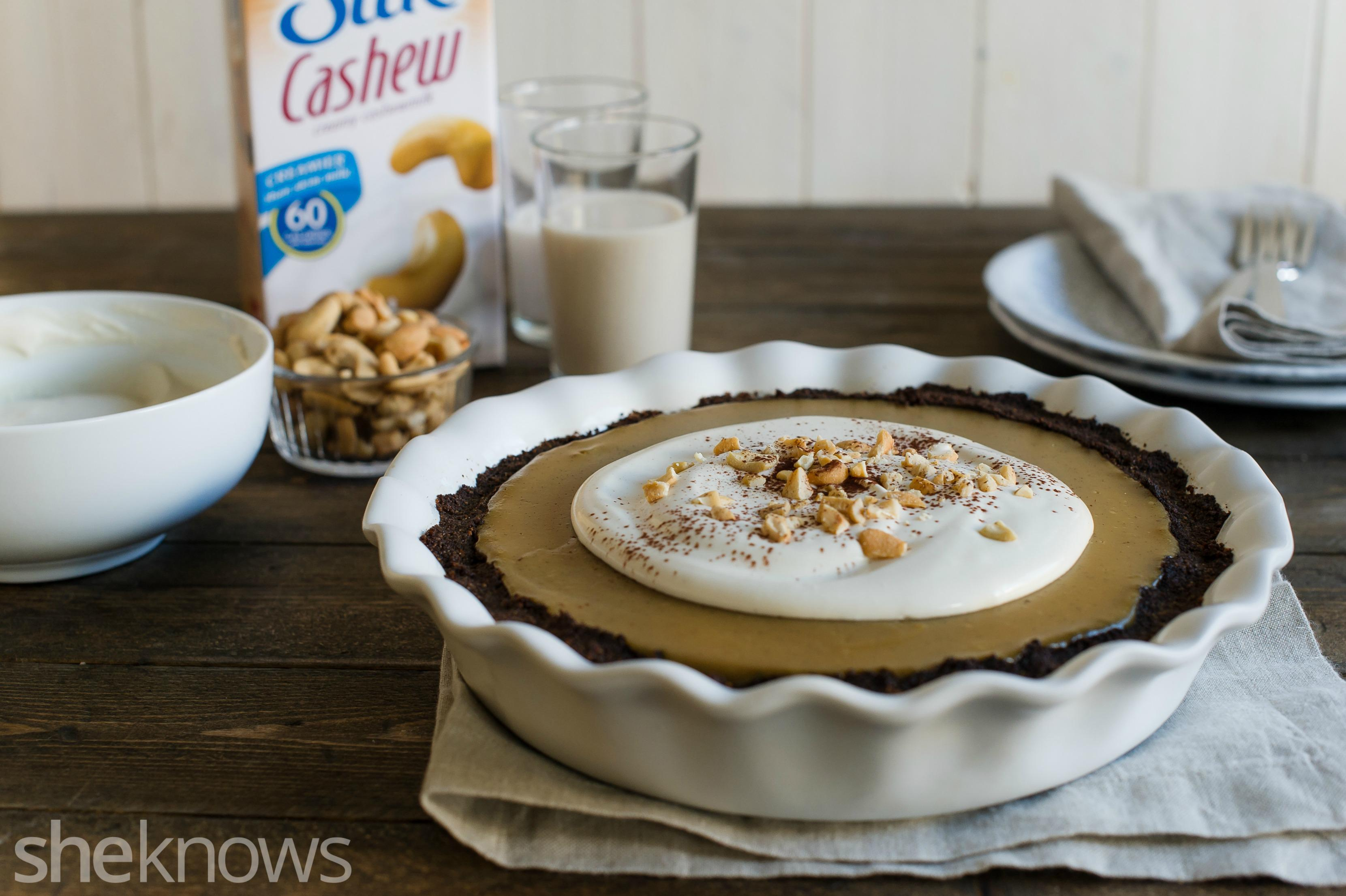 Cashew butterscotch pudding pie to indulge your sweet tooth