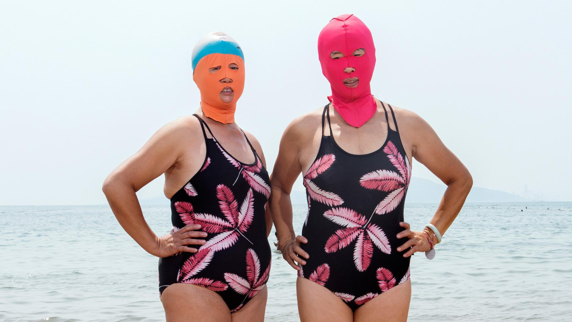 """Face-kinis"" are the latest trend in swimwear for Chinese women"