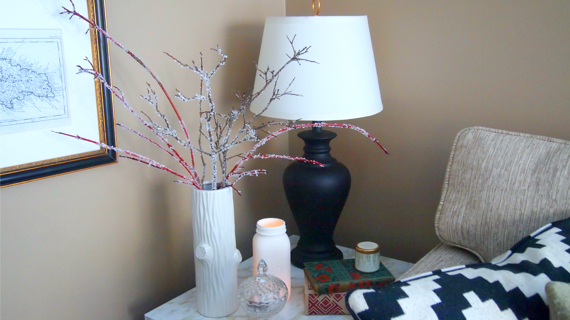 Icy-looking Branches For Winter Decor That Won't Break The
