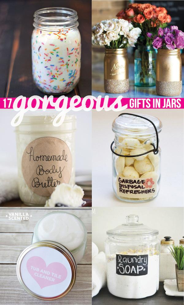 Funfetti candle and 16 other creative gifts in a jar