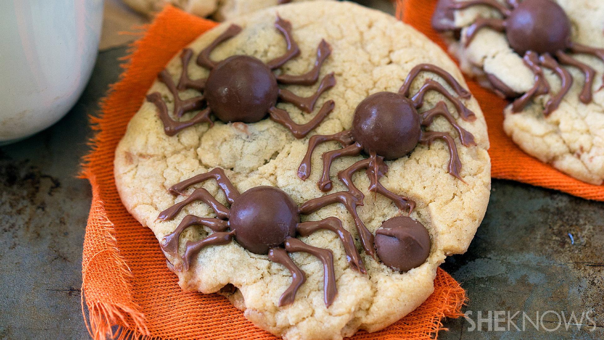 Creepy spider cookies are an easy-to-make treat