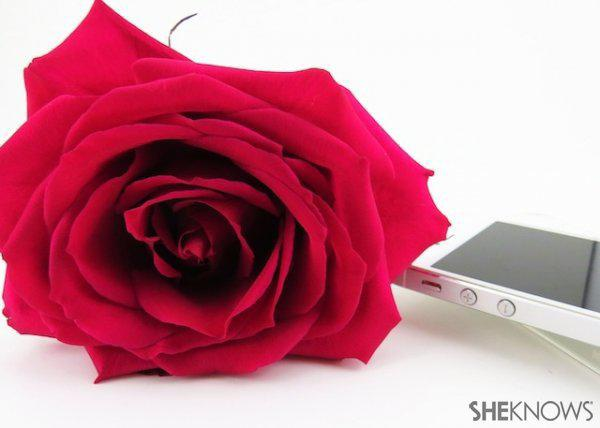 DIY Rose Petal Phone Case