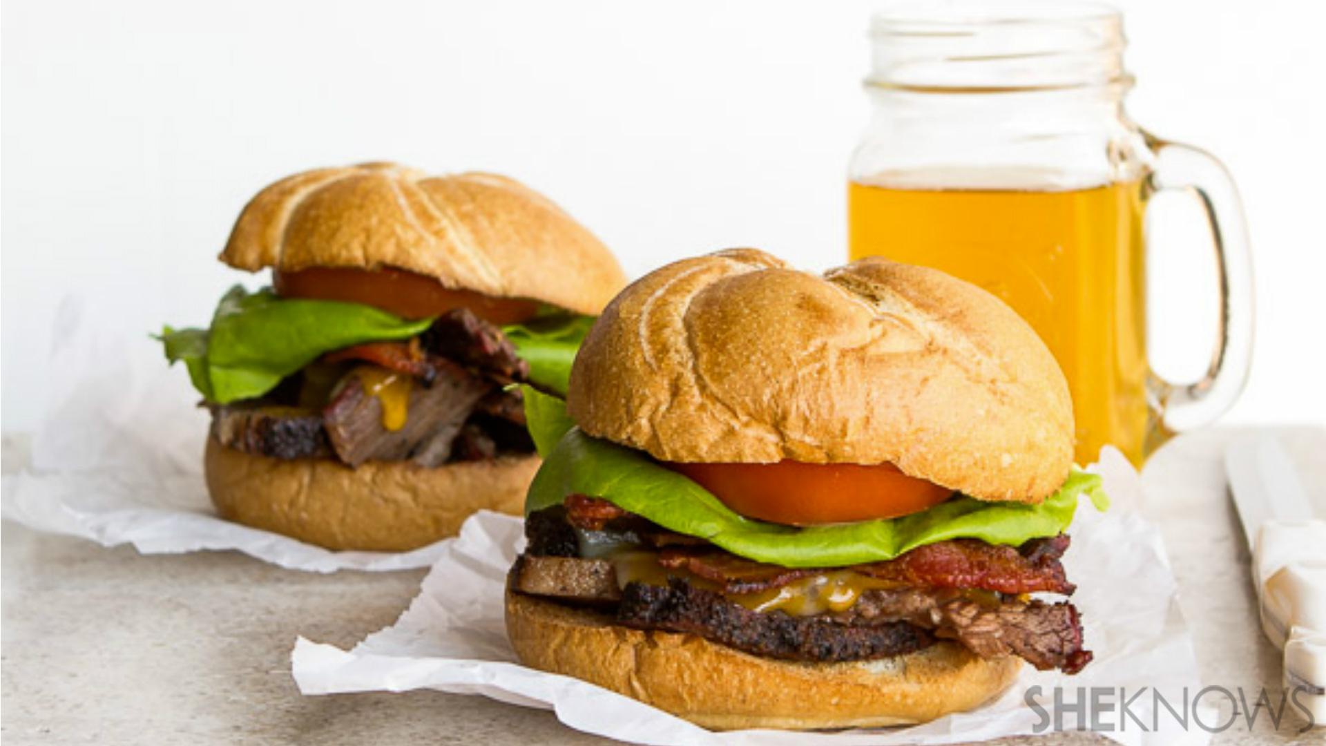 It's a BBLT. That's brisket, bacon, lettuce and tomato. And it's incredible.