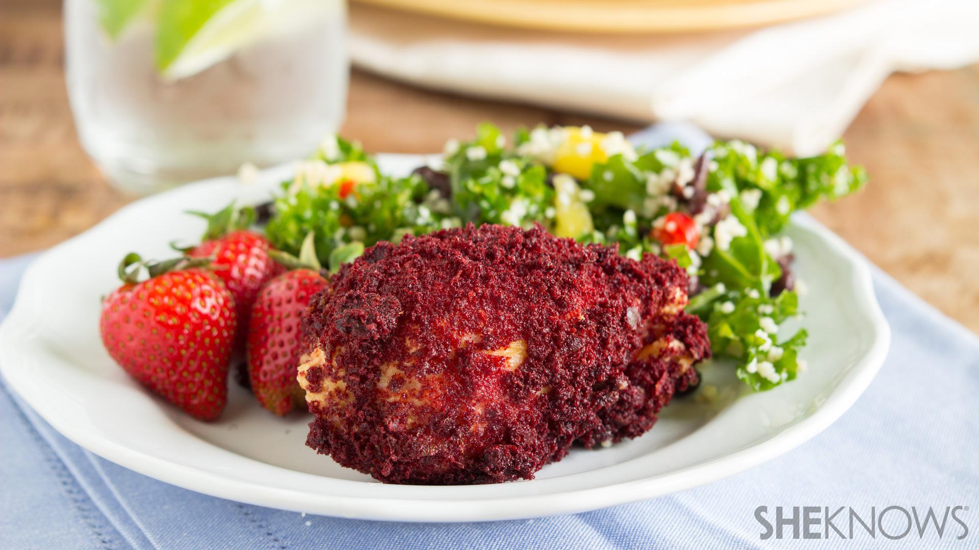 Red velvet fried chicken