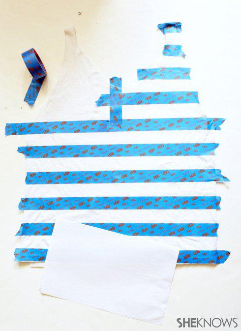DIY American flag tank made from an old T-shirt