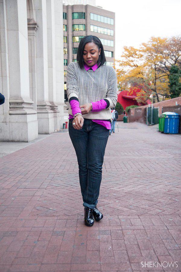 1 Sweatshirt Styled 3 Ways -- Layered