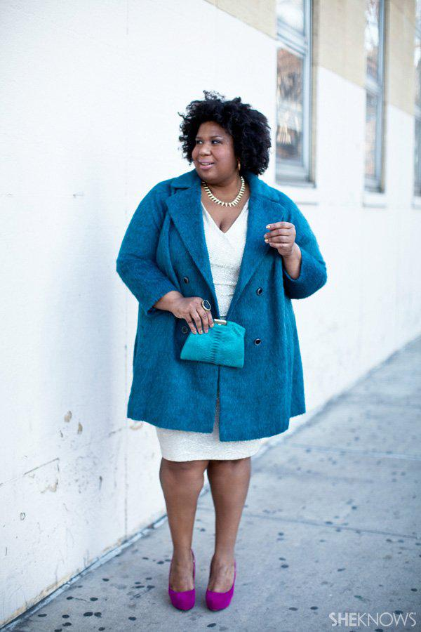 Glitzy holiday outfits for the plus-size woman