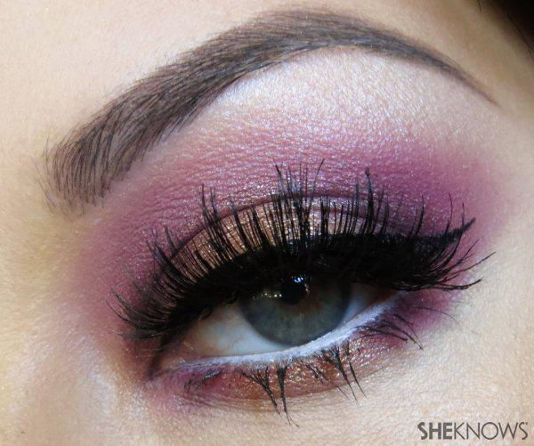 Rose gold date night eye makeup