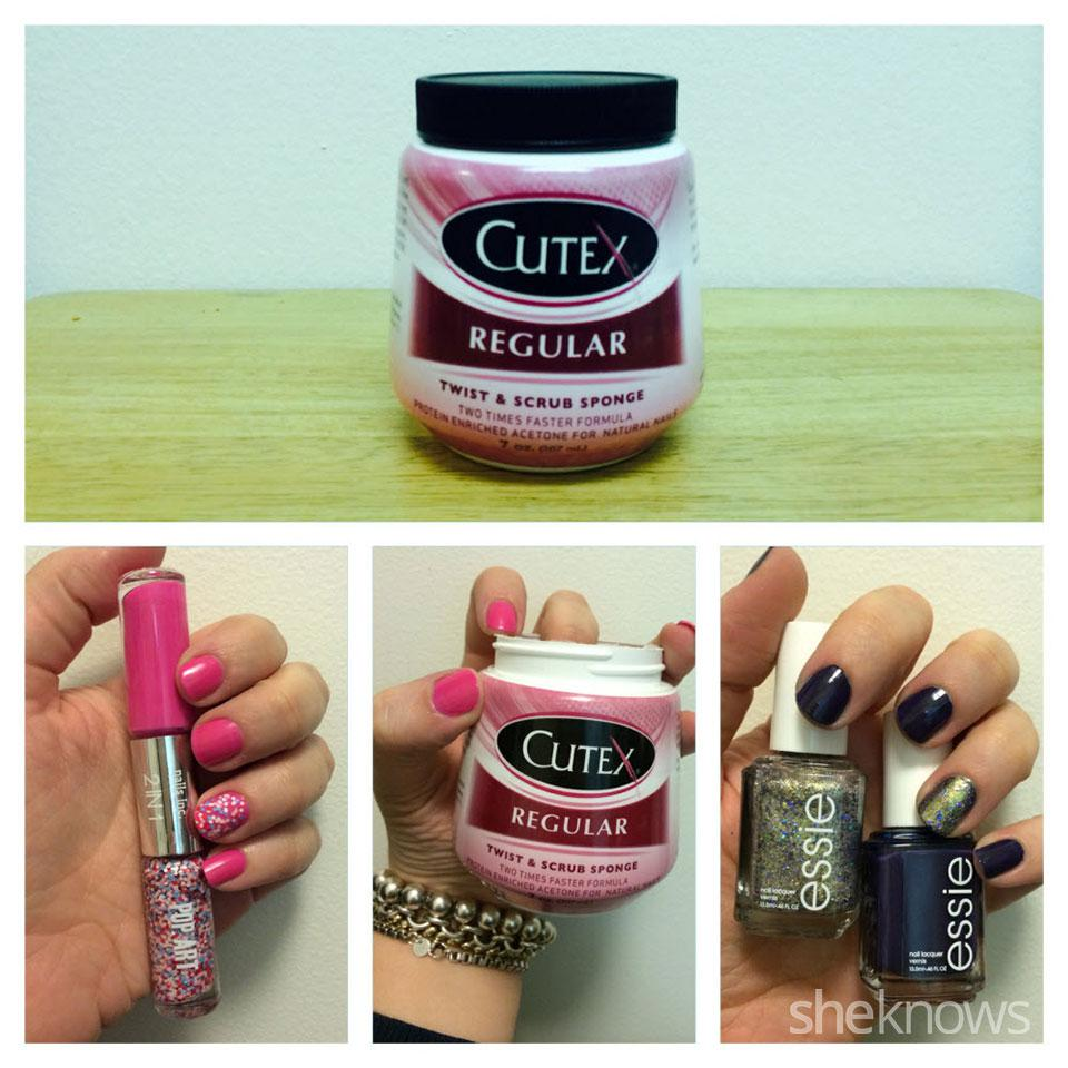 The best way to remove glitter nail polish