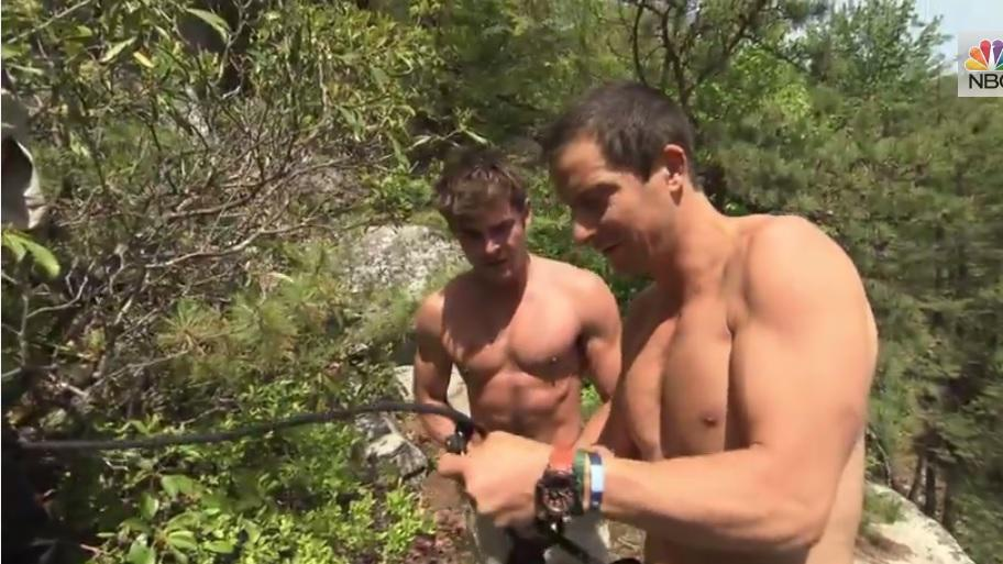 Bear Grylls and Zac Efron shirtless? This year, Christmas comes July 28