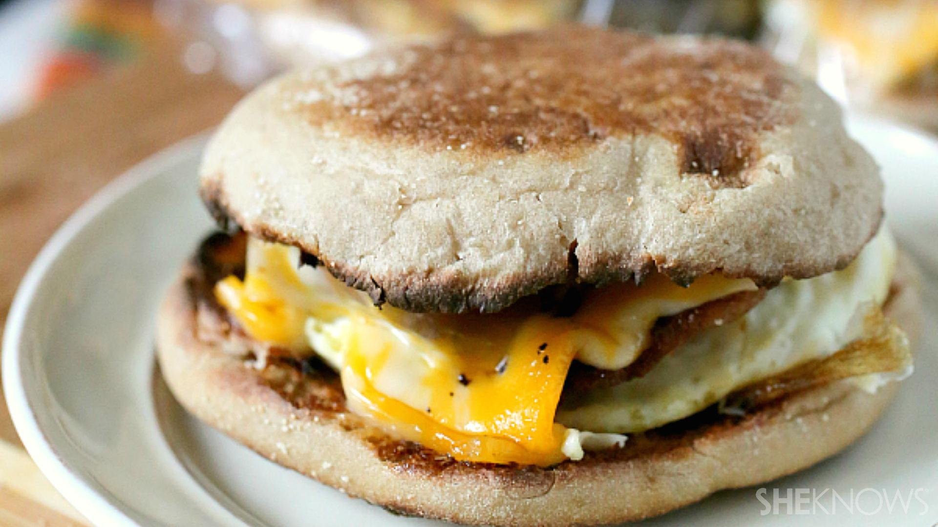Make-ahead freezer meals: Easy egg sandwiches for breakfast
