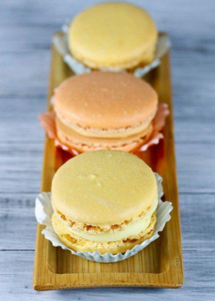 Blood Orange & Meyer Lemon Macarons